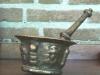 Spaans bronzen vijzel.