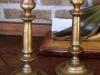 Bronzen 19e eeuwse kandelaars 2 stuks