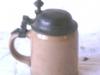 Duitse bierpul,met tinnen deksel.