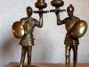 Bronzen paar kandelaars.