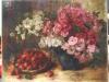 rozen in pot met aardbeien