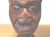 Afrikaanse hardhouten buste 2 gezichten