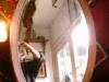 Ovalen spiegel met facet geslepen glas,